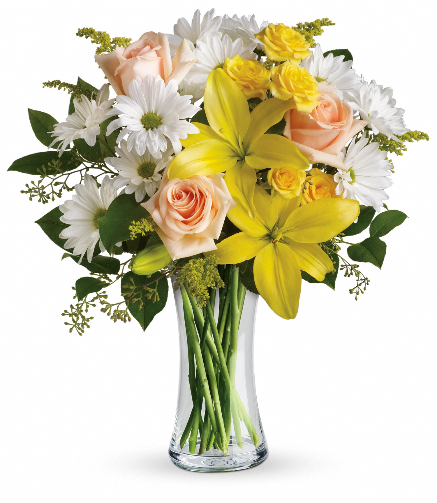 Keirsteads flowers and gifts a family tradition since 1925 whatever the weather this sunny bouquet of yellow peach and white flowers will brighten any day instantly perfect for a birthday thank you or just izmirmasajfo