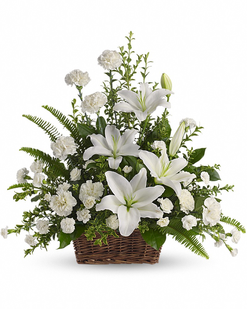 Keirsteads flowers and gifts a family tradition since 1925 as peaceful and beautiful as a starry night this pure white funeral bouquet is a touching way to remember a truly special person izmirmasajfo