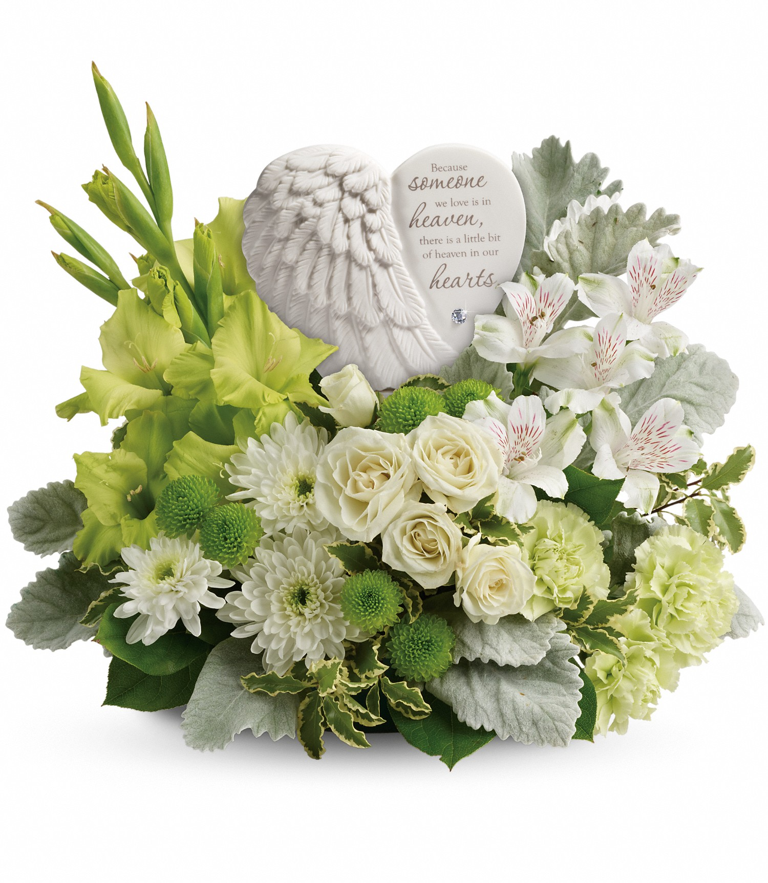 Keirsteads flowers and gifts a family tradition since 1925 message on sculpt reads because someone we love is in heaven there is a little bit of heaven in our hearts izmirmasajfo